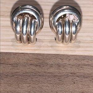Italian Sterling Silver earrings w/french closure